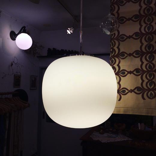 ヤマギワ、ヴィンテージ照明、ガラスペンダントライト、リンブルグ、スーパー楕円