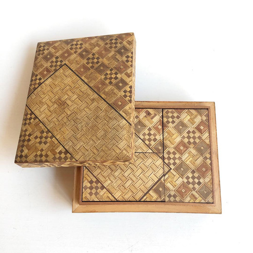 寄木細工、入れ子箱、カラクリ箱、小箱、木箱、ジュエリーボックス、宝石箱、工芸、ヴィンテージ、クラフト