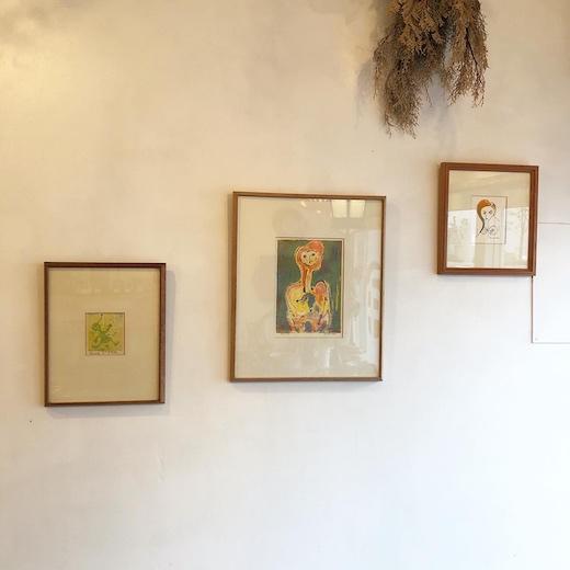 永瀬義郎、版画作品、シルクスクリーン、額装、ヴィンテージアート、モダンインテリア